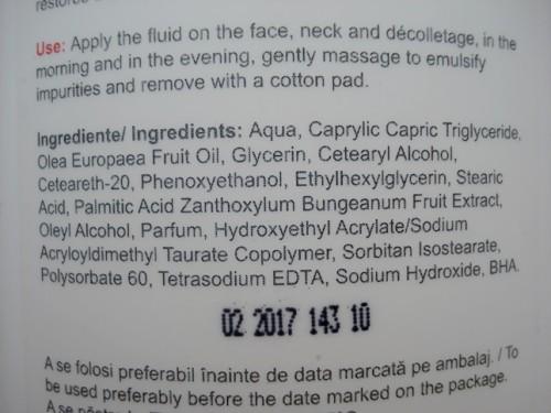 gerovital h3 fluid ingrediente
