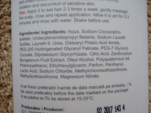 gerovital h3 sampon ingrediente
