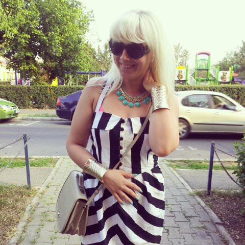 black white stripes fashion (3)