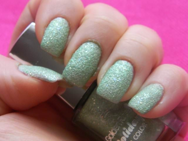 golden rose holiday sand nails (2)