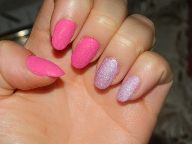 golden rose holiday sand nails (4)