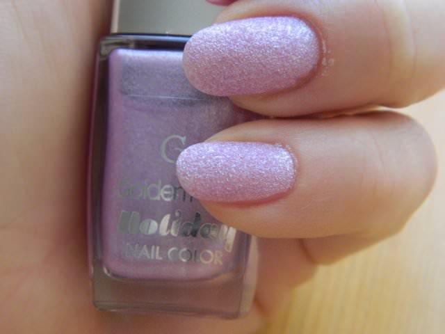 golden rose holiday sand nails (8)