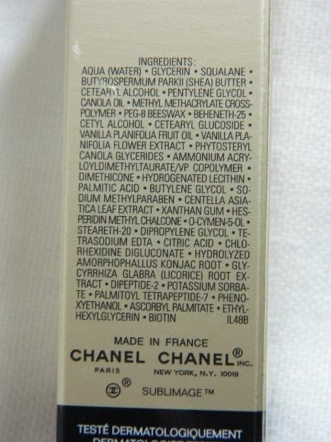ingrediente chanel sublimage