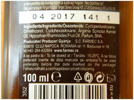 ingrediente ulei argan plus