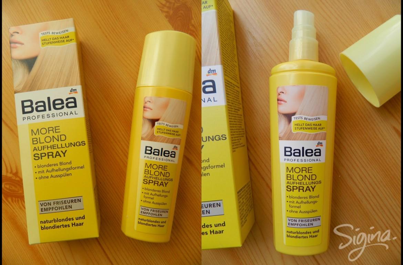 More Blond Spray De La Balea Pentru Păr Mai Blond Review Sigina
